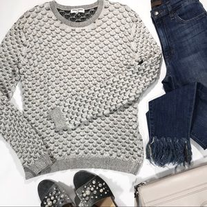 Opening Ceremony Scalloped Knit Sweater